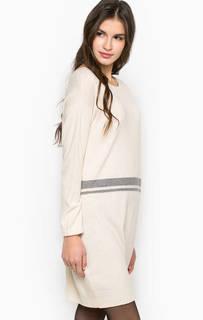 Платье с карманами и пуговицами на спине Stefanel