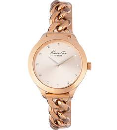 Часы с металлическим браслетом золотистого цвета Kenneth Cole
