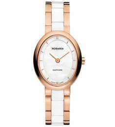 Часы овальной формы с перламутрово-белым циферблатом Rodania