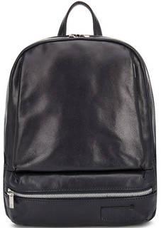 Кожаная однотонная сумка-рюкзак Sergio Belotti