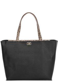 Вместительная черная сумка Cavalli Class