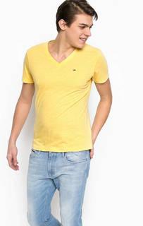 Желтая футболка с короткими рукавами Hilfiger Denim