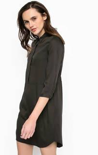 Короткое платье из вискозы с двумя карманами Calvin Klein Jeans