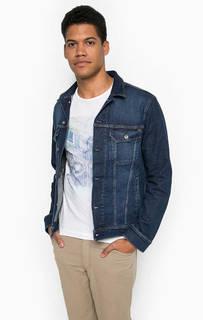Синяя джинсовая куртка с застежкой на болты Mustang