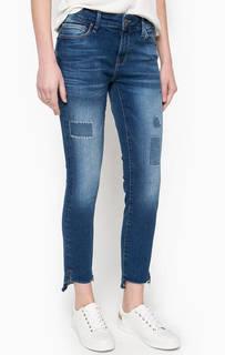 Укороченные джинсы скинни с вышивкой Mavi