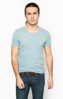 Голубая футболка с круглым вырезом Mavi