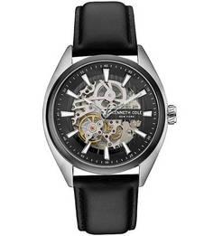 Механические часы с кожаным ремешком Kenneth Cole