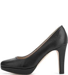 Черные туфли на каблуке S.Oliver