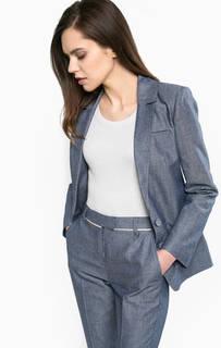Синий пиджак с накладными карманами Patrizia Pepe