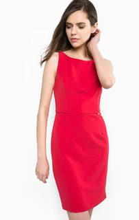 Красное платье со съемным бантом на спине Liu Jo