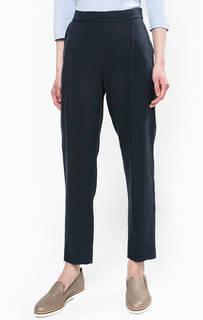 Темно-синие зауженные брюки из лиоцелла Stefanel