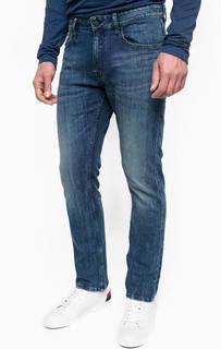 Синие джинсы с легкими заломами Calvin Klein Jeans