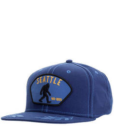 Хлопковая бейсболка синего цвета Goorin Bros.