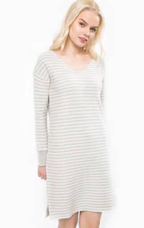 Хлопковое платье-свитер в полоску Marc Opolo