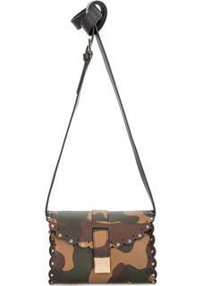Маленькая кожаная сумка в стиле милитари Furla