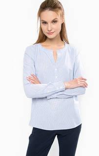 Хлопковая блуза в полоску Tom Tailor