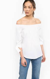 Белая блуза из хлопка с рукавами 3/4 Rich&Royal