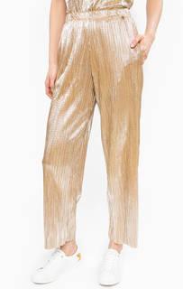 Широкие брюки золотистого цвета Rich&Royal