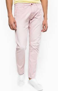 Зауженные розовые брюки из хлопка Scotch&Soda