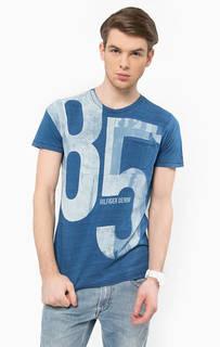Хлопковая футболка с нагрудным карманом Hilfiger Denim