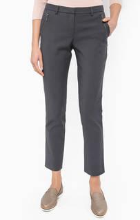 Серые брюки с декоративными молниями More & More
