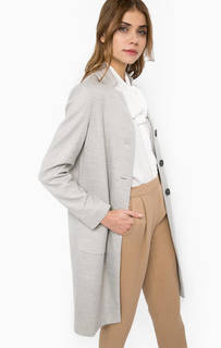 Серое пальто на пуговицах More & More
