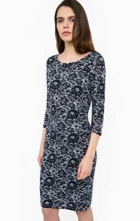 Трикотажное платье с вырезом-лодочкой Lerros