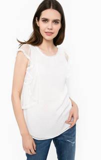 Белая блуза свободного кроя Liu Jo