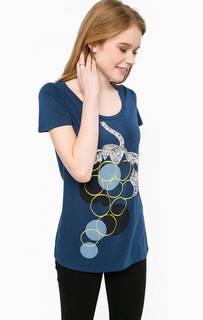 Синяя хлопковая футболка Liu Jo