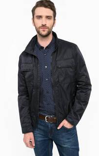 Синяя куртка на молнии с воротником-стойкой Tom Tailor