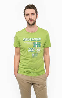 Хлопковая футболка с принтом Napapijri