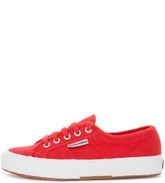 Красные текстильные кеды Superga