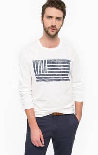 Хлопковая футболка с контрастным принтом Tom Tailor