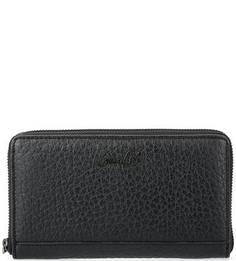 Черный кожаный кошелек Gianni Conti