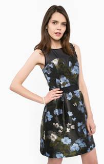 Платье средней длины с цветочным принтом Kocca