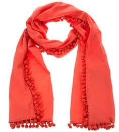 Красный хлопковый шарф Kocca