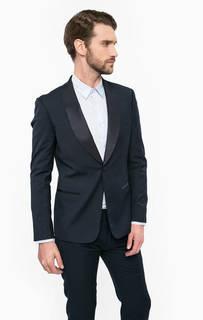 Пиджак на пуговице темно-синего цвета Antony Morato