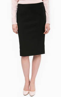 Трикотажная черная юбка-карандаш More & More