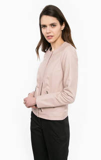 Кожаная куртка розового цвета More & More