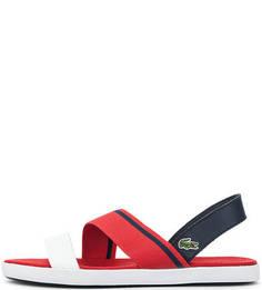 Кожаные сандалии с вставкой из текстиля Lacoste