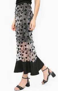 Трикотажная юбка на молнии Silvian Heach