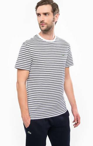 Хлопковая футболка в полоску