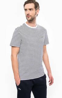 Хлопковая футболка в полоску Lacoste