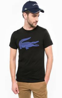 Черная футболка с круглым вырезом Lacoste