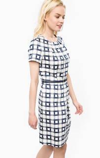 Приталенное платье из хлопка с ремнем Barbour