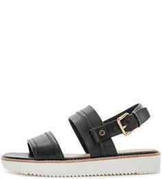Черные сандалии с широким ремешком Aldo