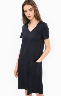 Платье расклешенного кроя с накладными карманами Stefanel