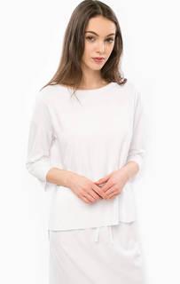 Плотная белая футболка оверсайз Stefanel