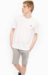 Белая футболка с круглым вырезом Lacoste