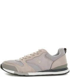 Текстильные кроссовки с вставками из замши Gant
